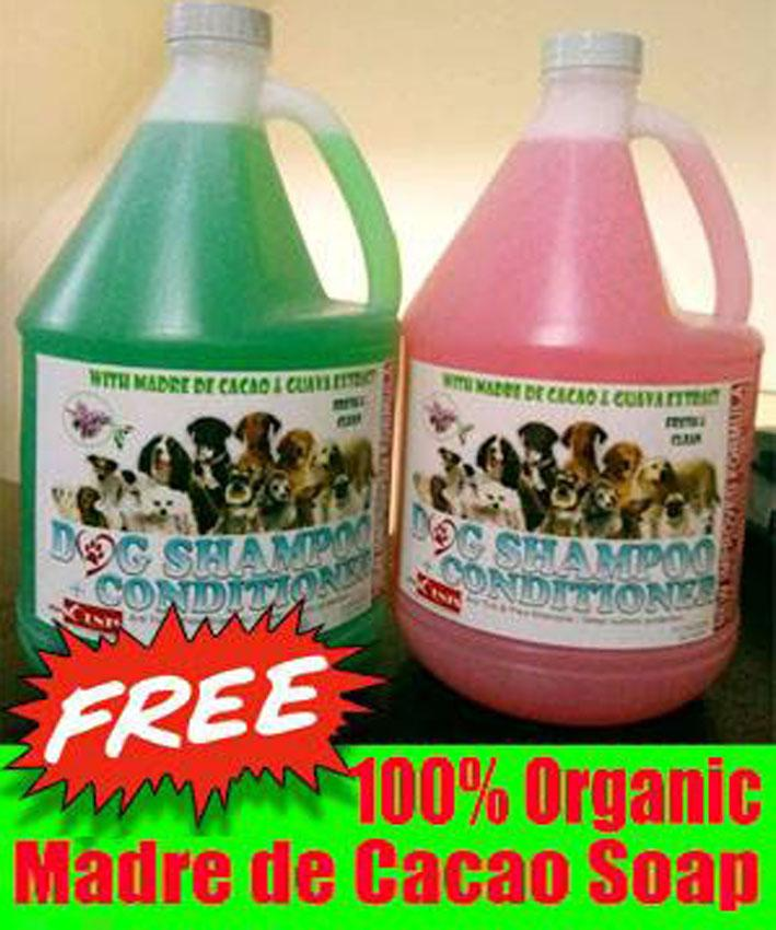 1 gallon Madre de cacao dog & cat shampoo w/ conditioner (free Soap)