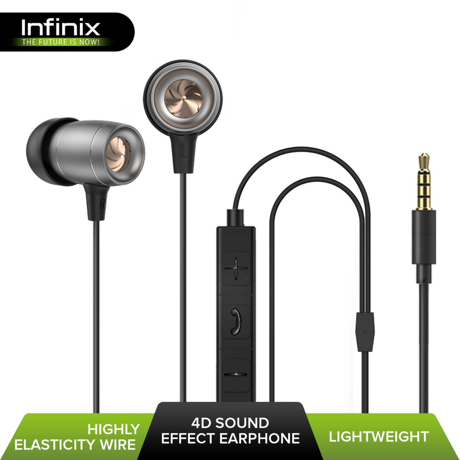 4bba1a62da6 Infinix XE06 4D Sound Effect Stereo In- Ear Earphone Headset with Microphone    Volume Control