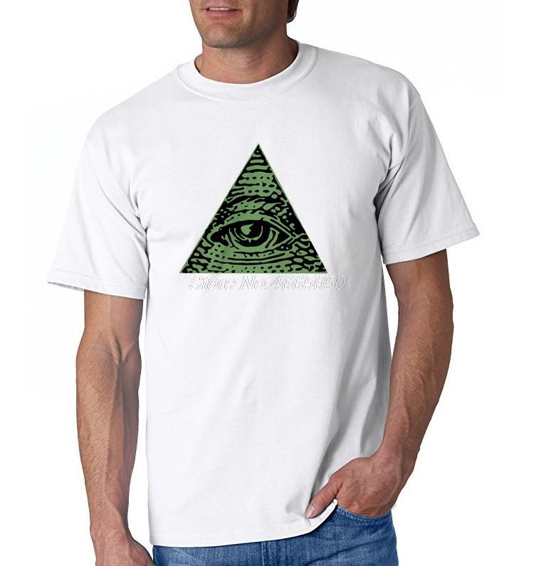fe36f6698de6 T Shirts Men illuminati All Seeing Eye Pyramid Dollar Freemason God Round  Neck Tshirs Youth Cool