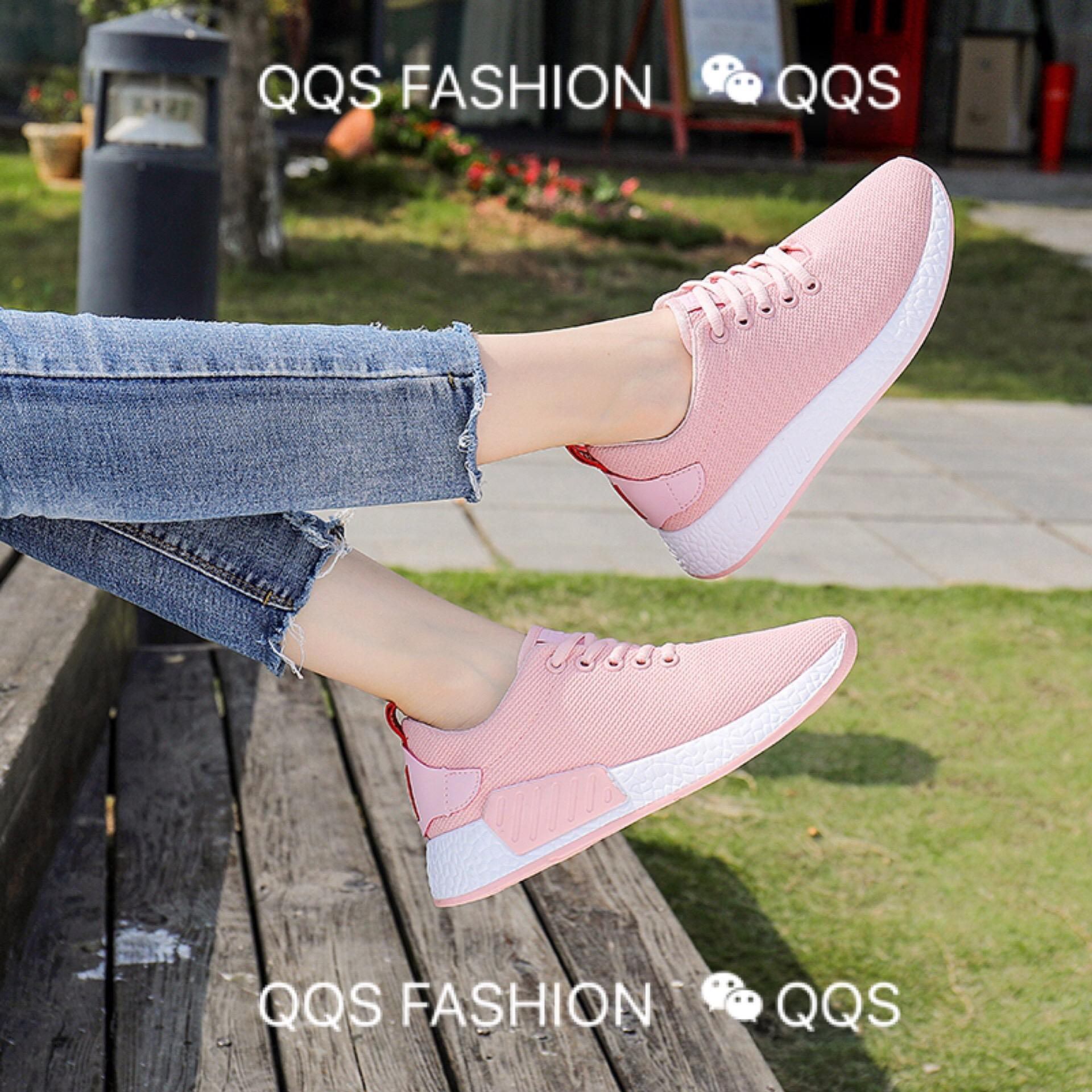 b294f7fde6d QQS 2018 trend wild female Korean version of thick-soled running shoes  casual wild female
