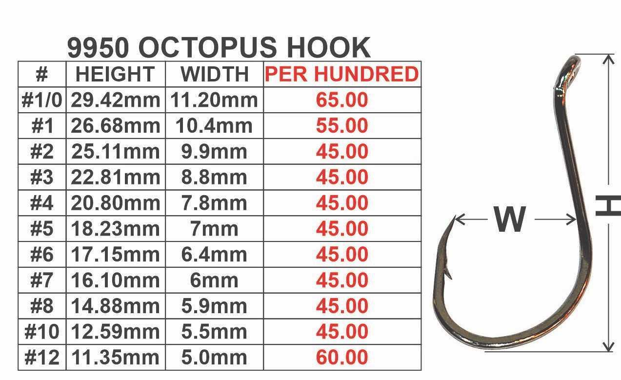 100pcs 16# 80pcs Sharpen octopus Fishhook+50cm Line