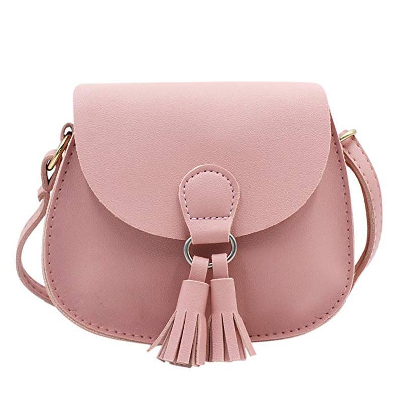Kid Girls Mini Leather Chain Crossbody Shoulder Bags Sling Satchel Messenger Bag