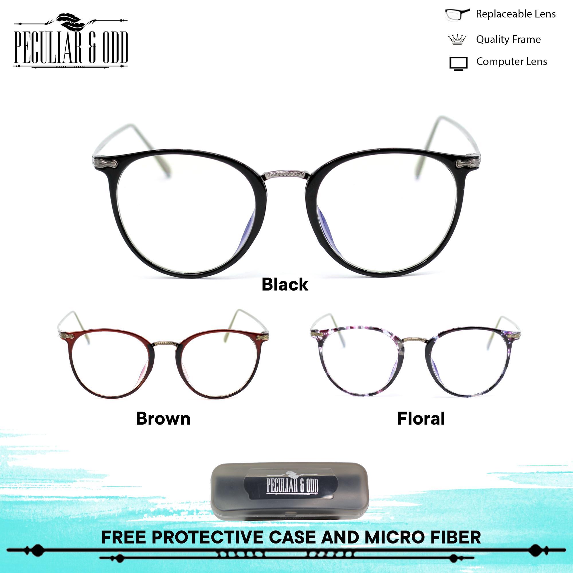 Peculiar Round Eyeglasses 8806 Antiradiation Lenses Lightweight Replaceable  Optical Lens Unisex Eyewear f66dbac4b778