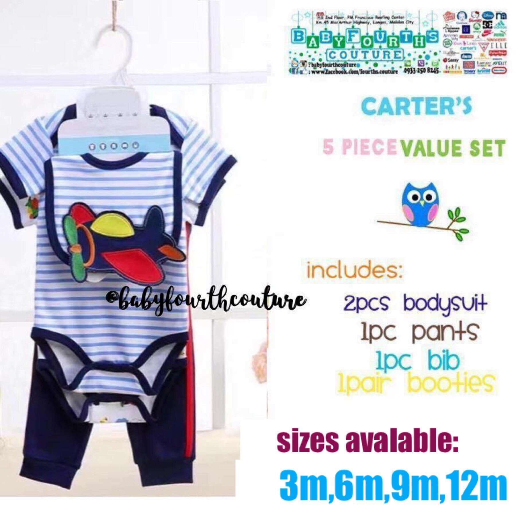 NWT Carter/'s Baby Boy infant Clothes 2-Pack set Jersey Rompers 3M 6M 9M 12M