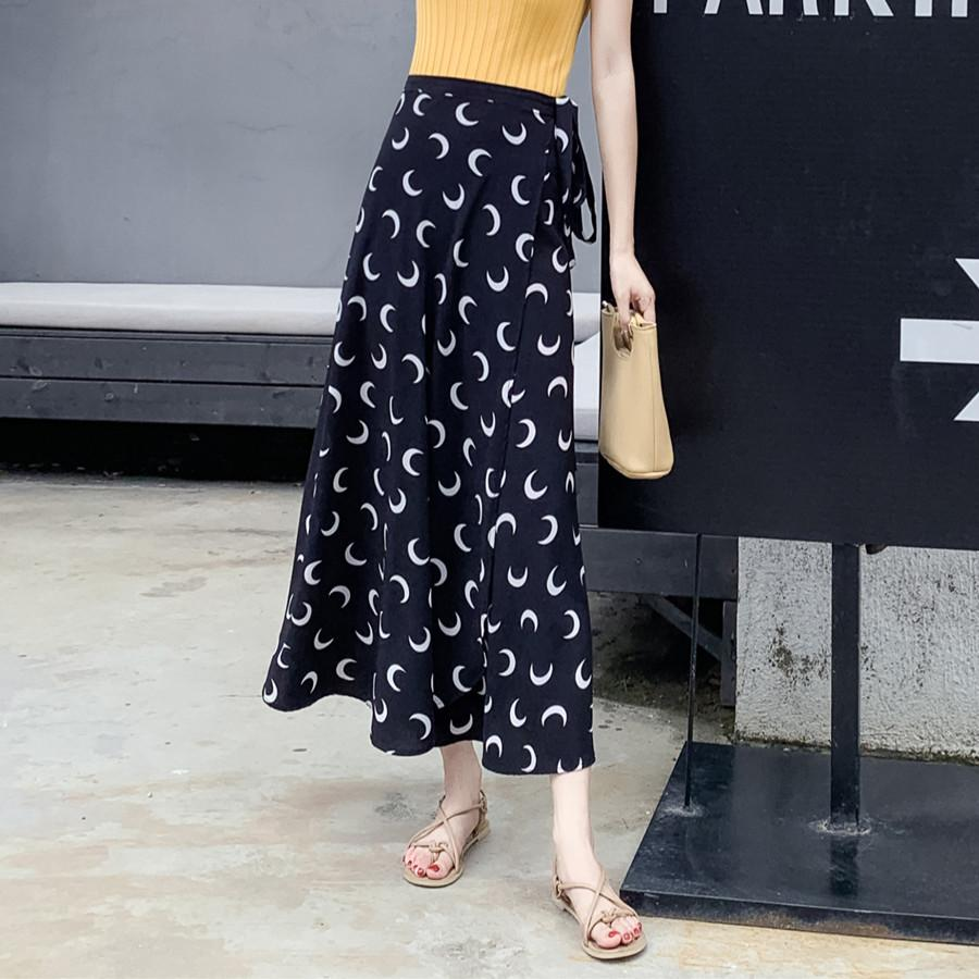 93c1650aca Product details of INS Ultra-Fire Skirt Female Chiffon Solid Skirt Summer  2019 New Style High-waisted Long Skirts A-line Dress Thailand Wrap Skirt
