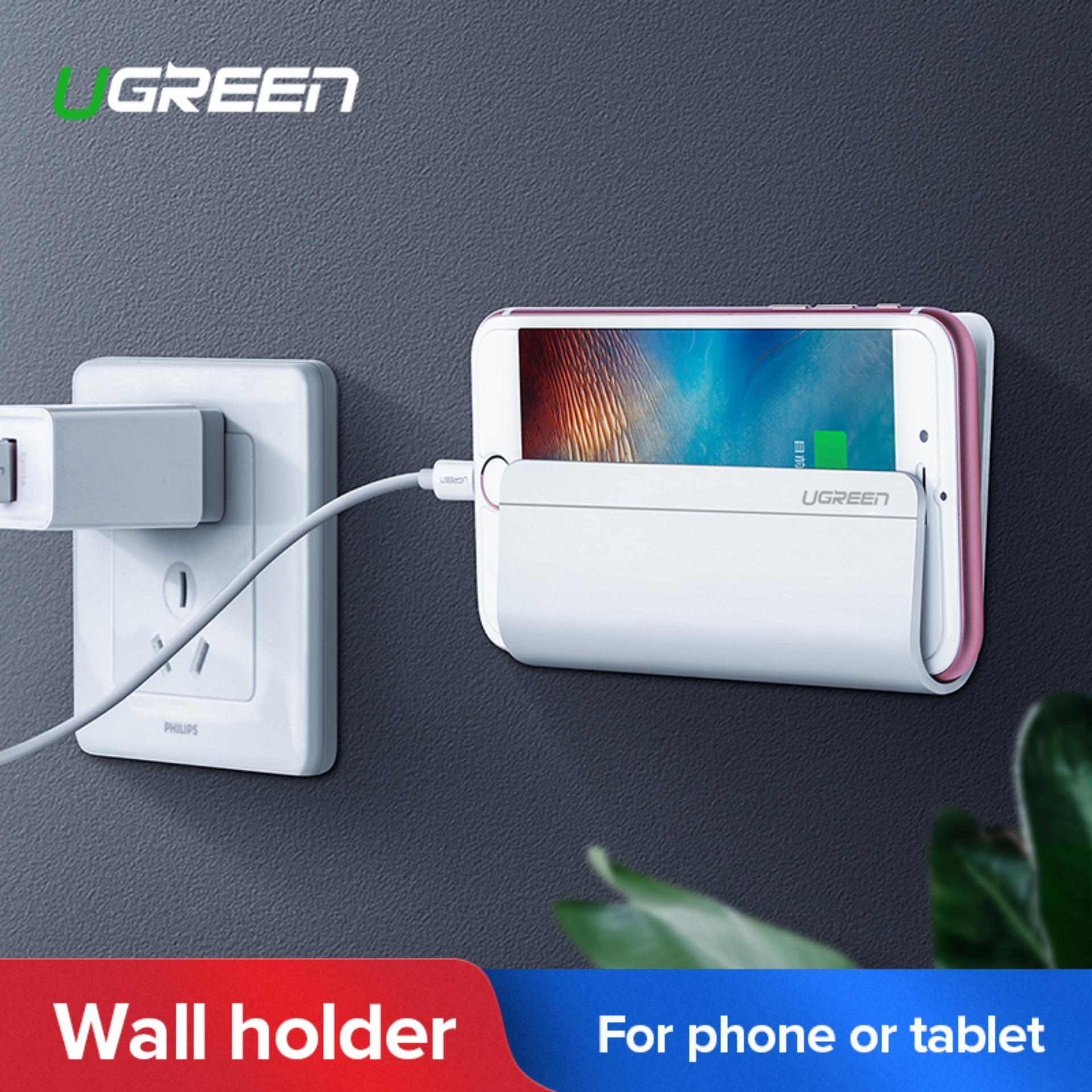Ugreen Wall Mount Phone Holder With Adhesive Strips, Charging Holder For Iphone, Ipad And More Other Smartphone And Tablet-Intl By Ugreen Flagship Store.