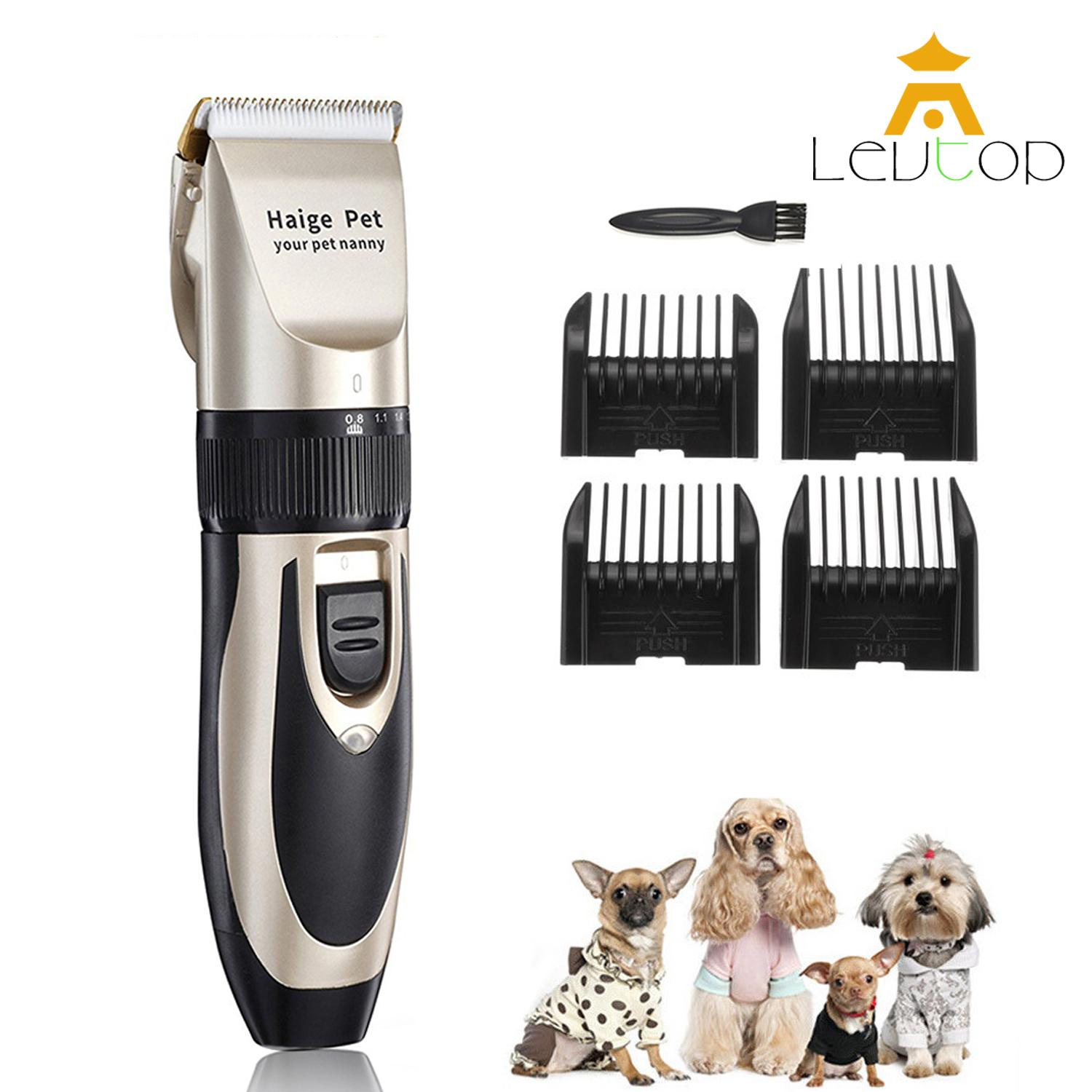LEVTOP Pet Cat Dog Hair Trimmer Grooming Kit Animal Hair Clipper Shaver Set  Haircut Machine 4938094222