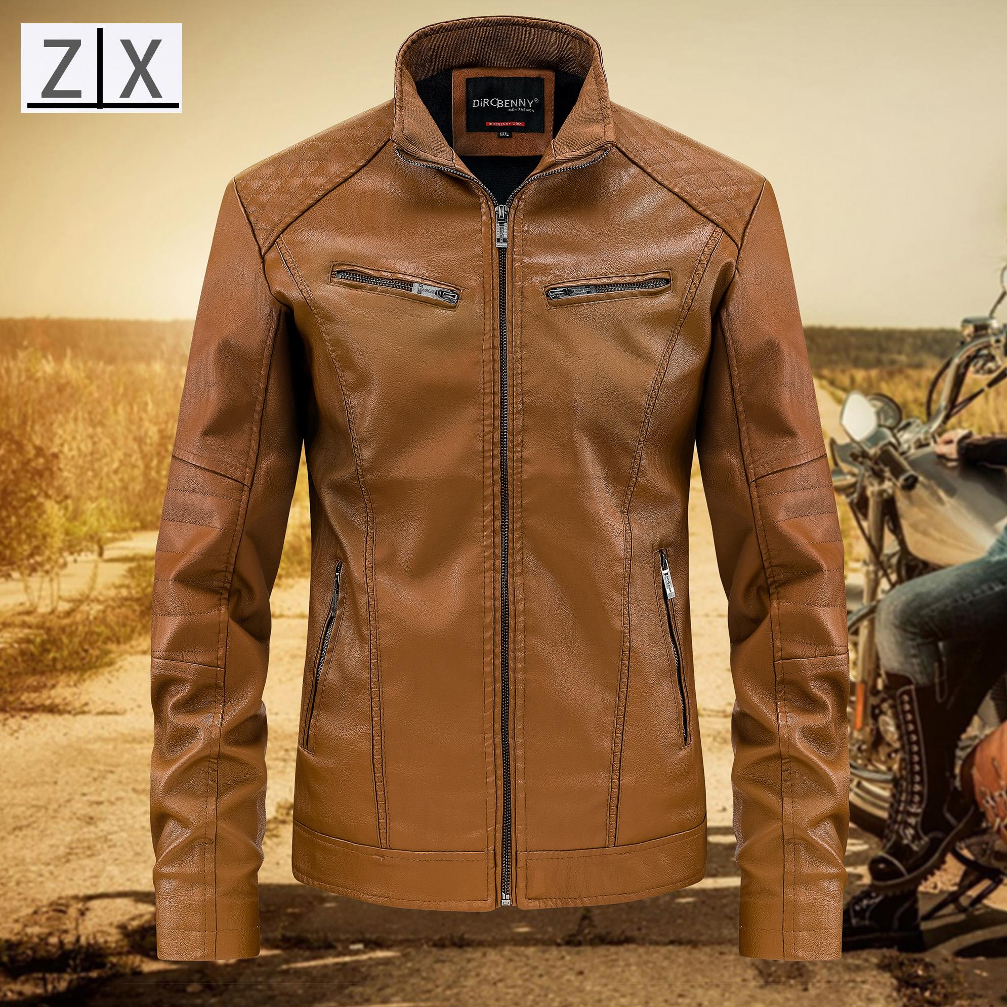 Usa Motorcycle Leather Jacket For Man Dircbenny By Zxjeans.