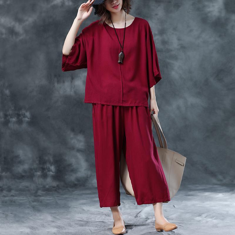 9b3766e5564 women Suit 2019 Summer New Style Large Size Loose Elegant Loose Pants  Leisure 100% Cotton