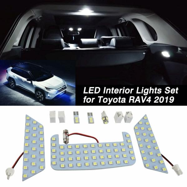 Car White LED Interior Upgrade Light Lamp Bulb Kit for Toyota RAV4 2019 2020