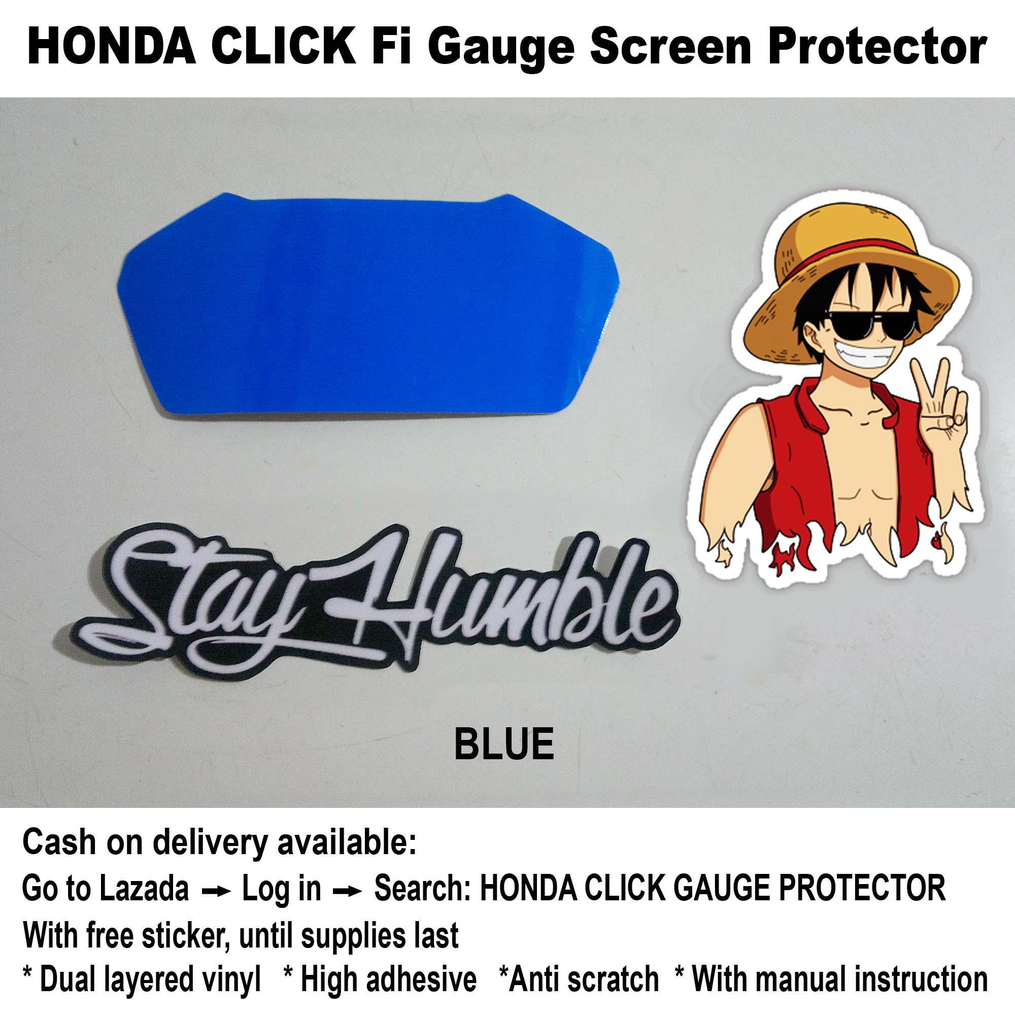 Honda Click Gauge Protector (blue) By Ej Cycle Graphics.