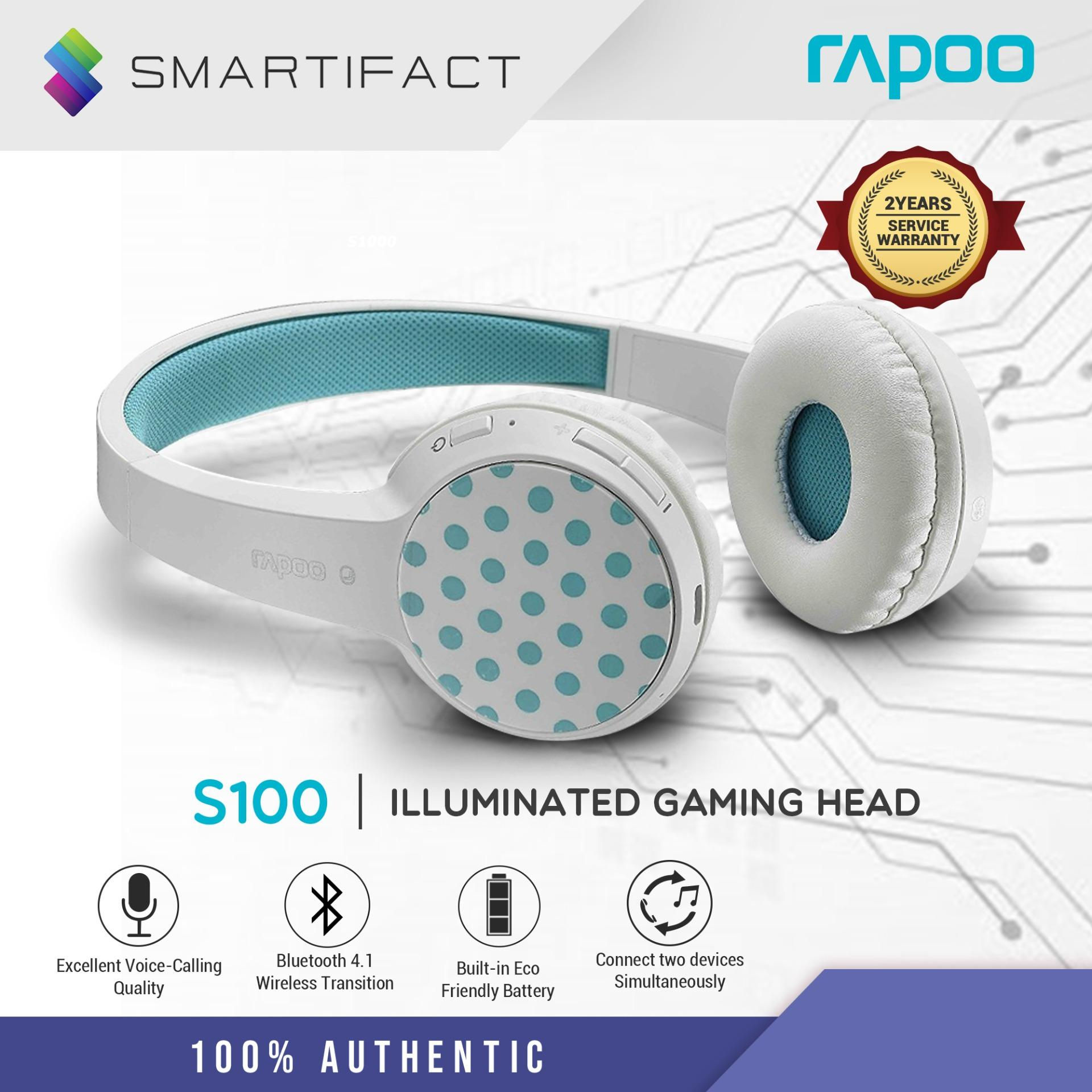 bde3ce472a0 Rapoo S100 Bluetooth 4.1 Fashionable Stereo Wireless Headset Wireless  Headphones