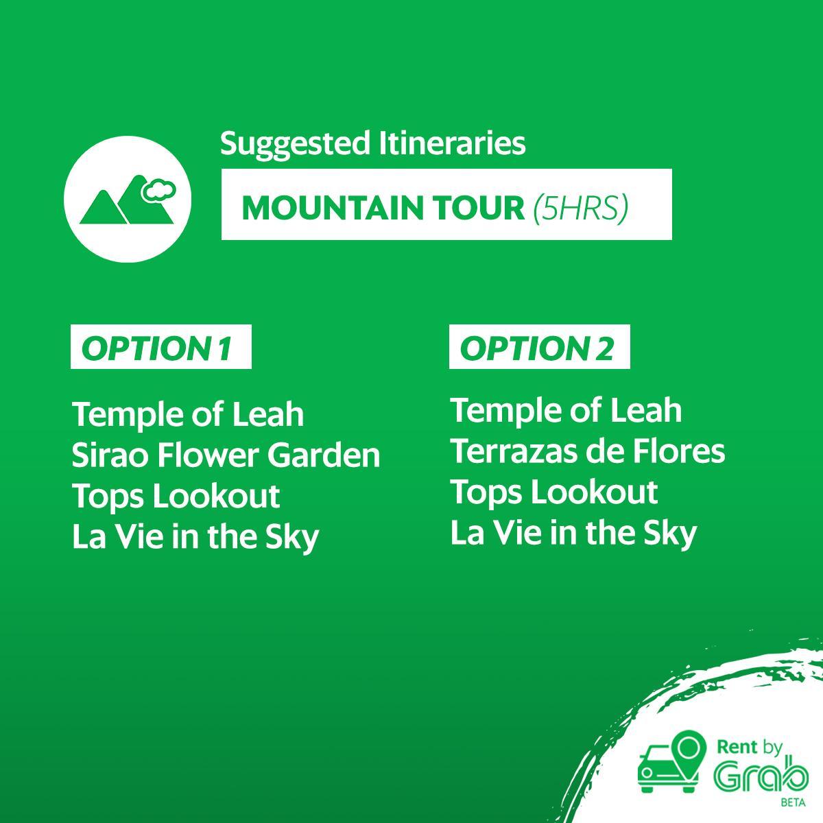 Rent By Grab Cebu Van Mountain Tour 5hrs Sms Evoucher