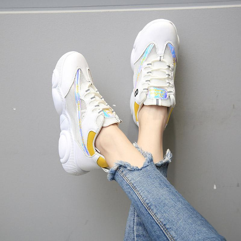 ตาข่ายระบายอากาศรองเท้าออกกำลังกายหญิง 2019 ใหม่สไตล์เกาหลีนักเรียนพื้นหนาเข้าได้หลายชุดลำลองรองเท้าตาข่ายสำหรับผู้ชาย Bear Xie Ins เสื้อผ้าแฟชั่น เสื้อผ้าแฟชั่น น้ำ By Taobao Collection.