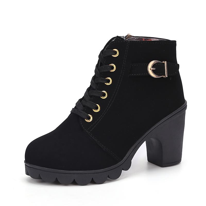 f205c78759a 2019 Bestseller Korean Fashion Ankle Martin Boots