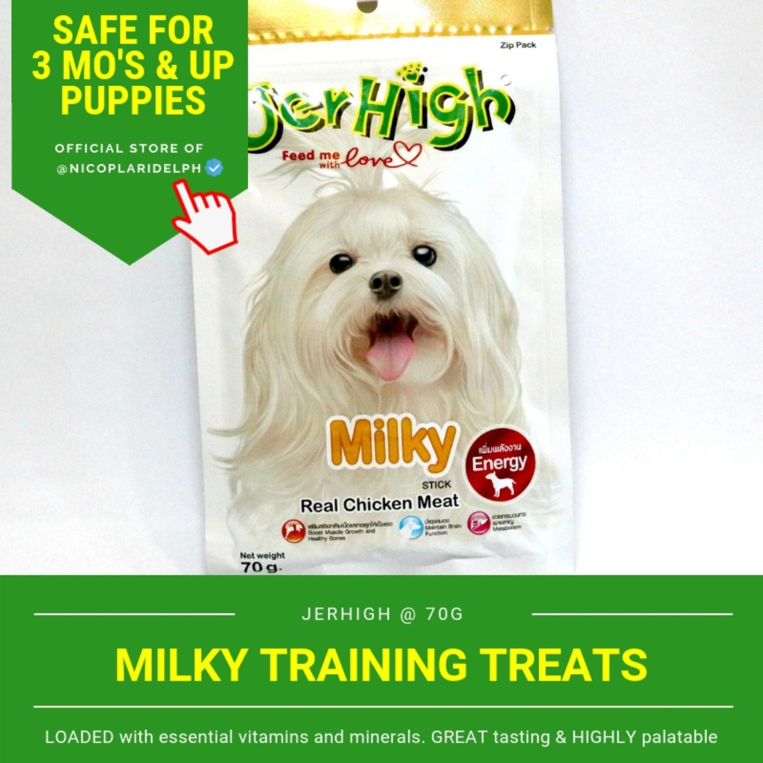 Jerhigh Milky Stick With Real Chicken Meat For Puppies And Adult Dogs (70g) By Nicoplaridelph.
