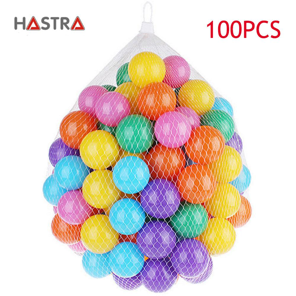 Hastra 100 Pcs Multicoloured Soft Pit Balls, Plastic Play Balls Ocean Balls Thicken Playpen Balls Wave Baby Ball Toys For Pits Tents Pool By Hastra.