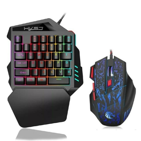 Sudu Mini One-handed Mechanical Gaming Keyboard V100 35-key Color Backlit Wired USB Gaming Keyboard and Mouse Combination Malaysia