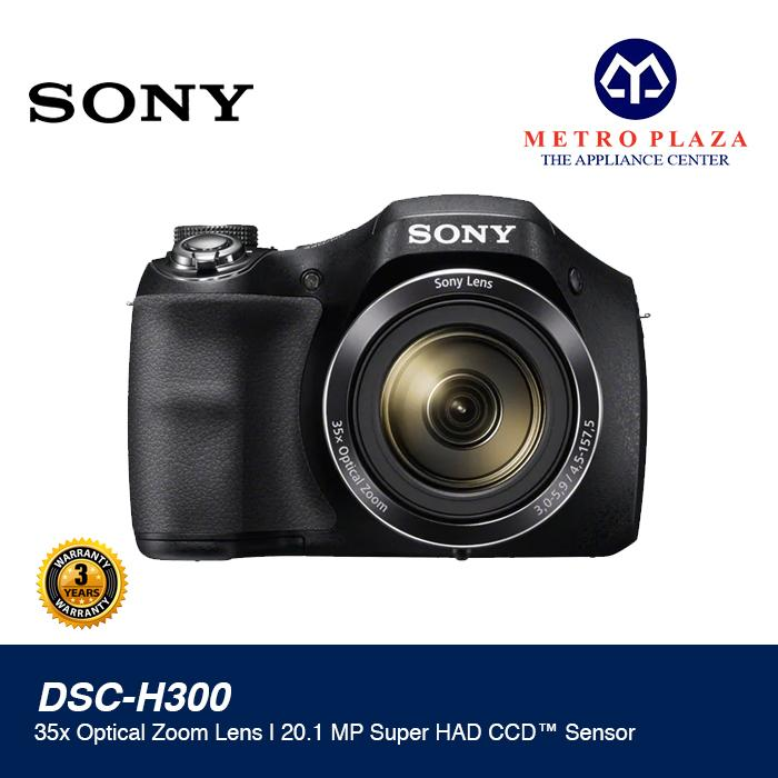 Sony DSC-H300 20 1MP Compact Camera With 35x Optical Zoom (Black) with Free  8GB SD Card