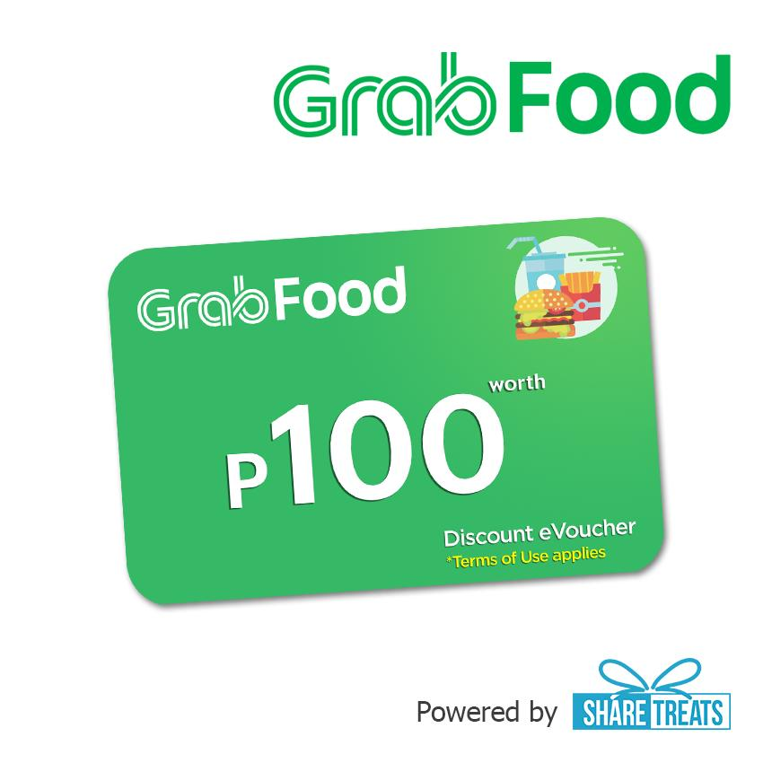 Grab Food P100 Promo Code (sms Evoucher) By Share Treats.