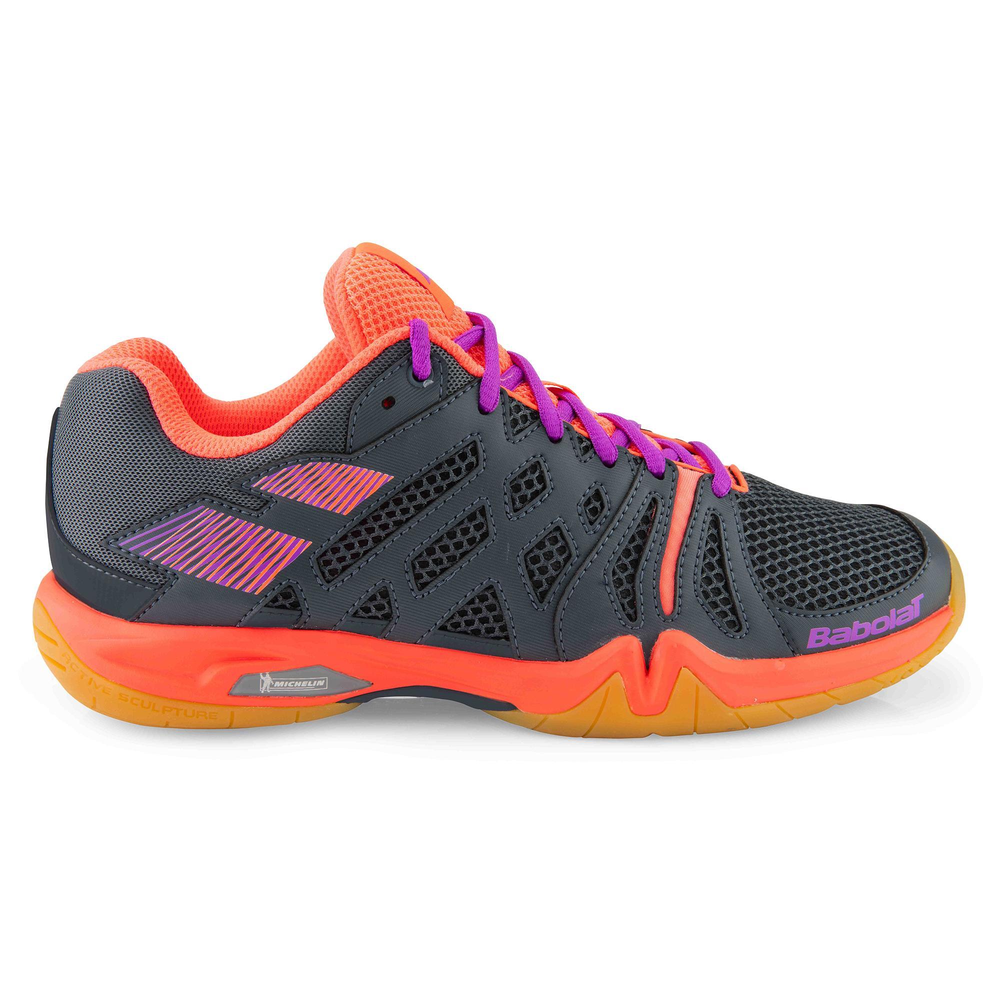 25c003e85a8 Babolat Shadow Team Women s Badminton Shoes (Anthracite Fluorescent Pink)