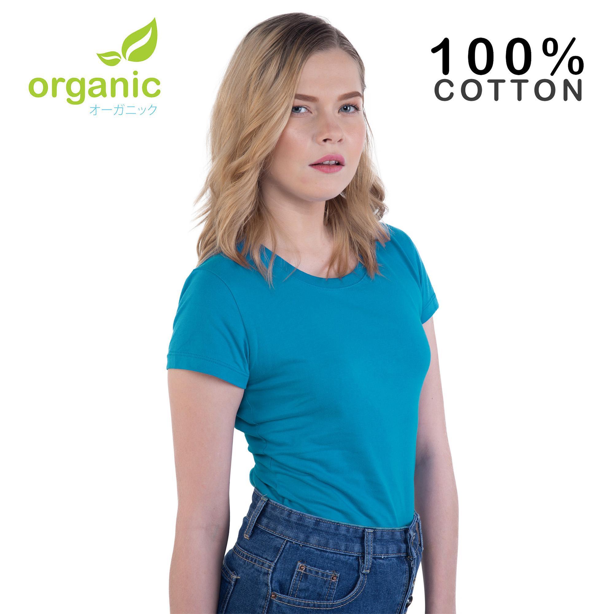 e25192d46640 Organic Ladies 100% Cotton Round Neck Fashionable Tees t shirt tshirt  shirts tshirts blouse tops