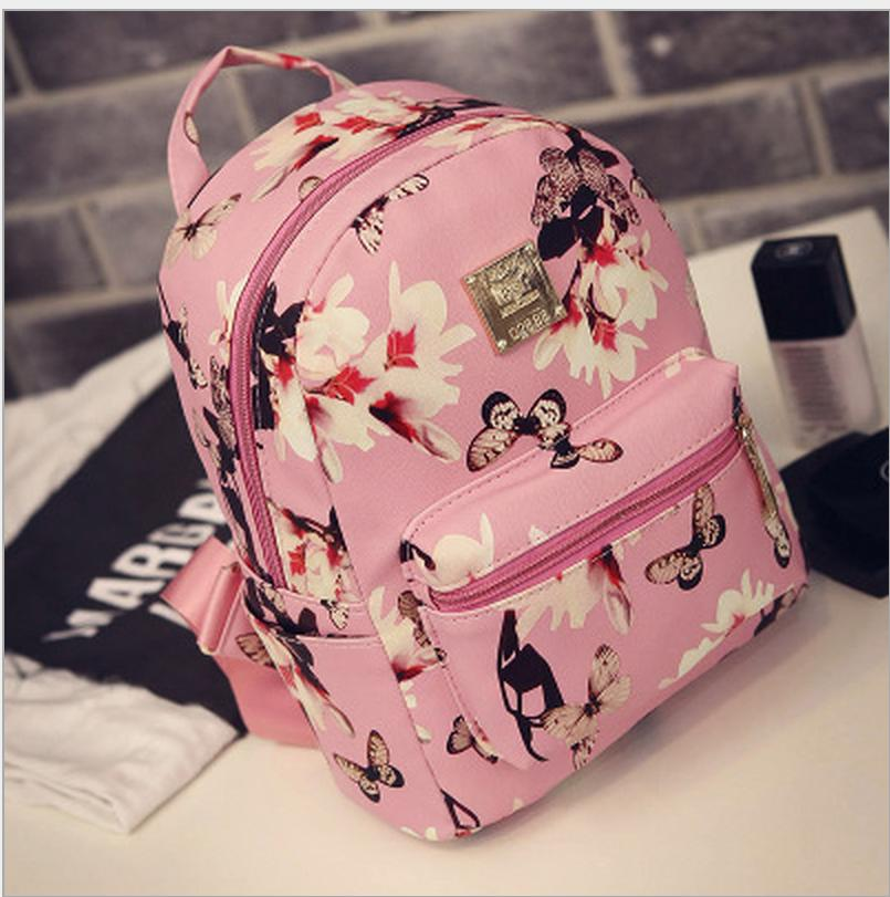 MALL Korean Leather Floral Backpack 89dfd0dbd82ef