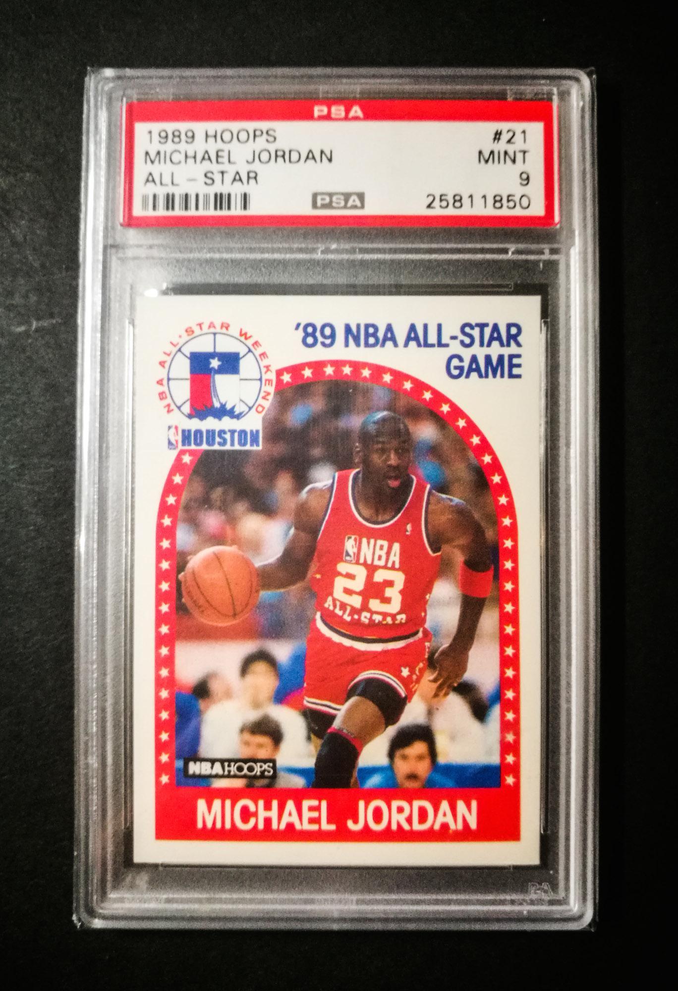 7835c3af99c Michael Jordan 1989 Hoops All-Star  21 PSA 9 MINT Basketball Card