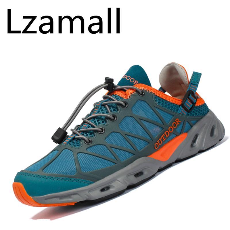 981ce40d1c7 ZOWIE Men Sport Summer Water Shoe Mesh Aqua Quick-Dry Beach Hiking Shoes