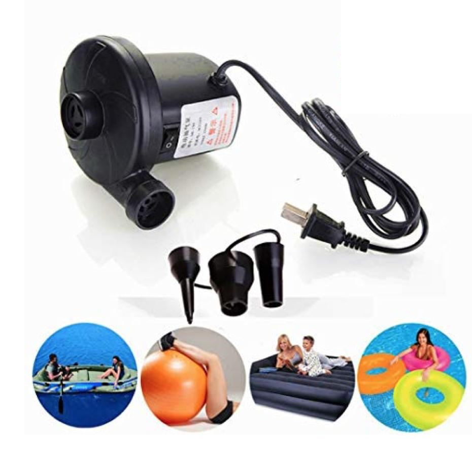 Hs101 Electric Air Pump For Inflate Or Deflate On Air Mattress Floaters Yoga Balls By Hot Shop 101.