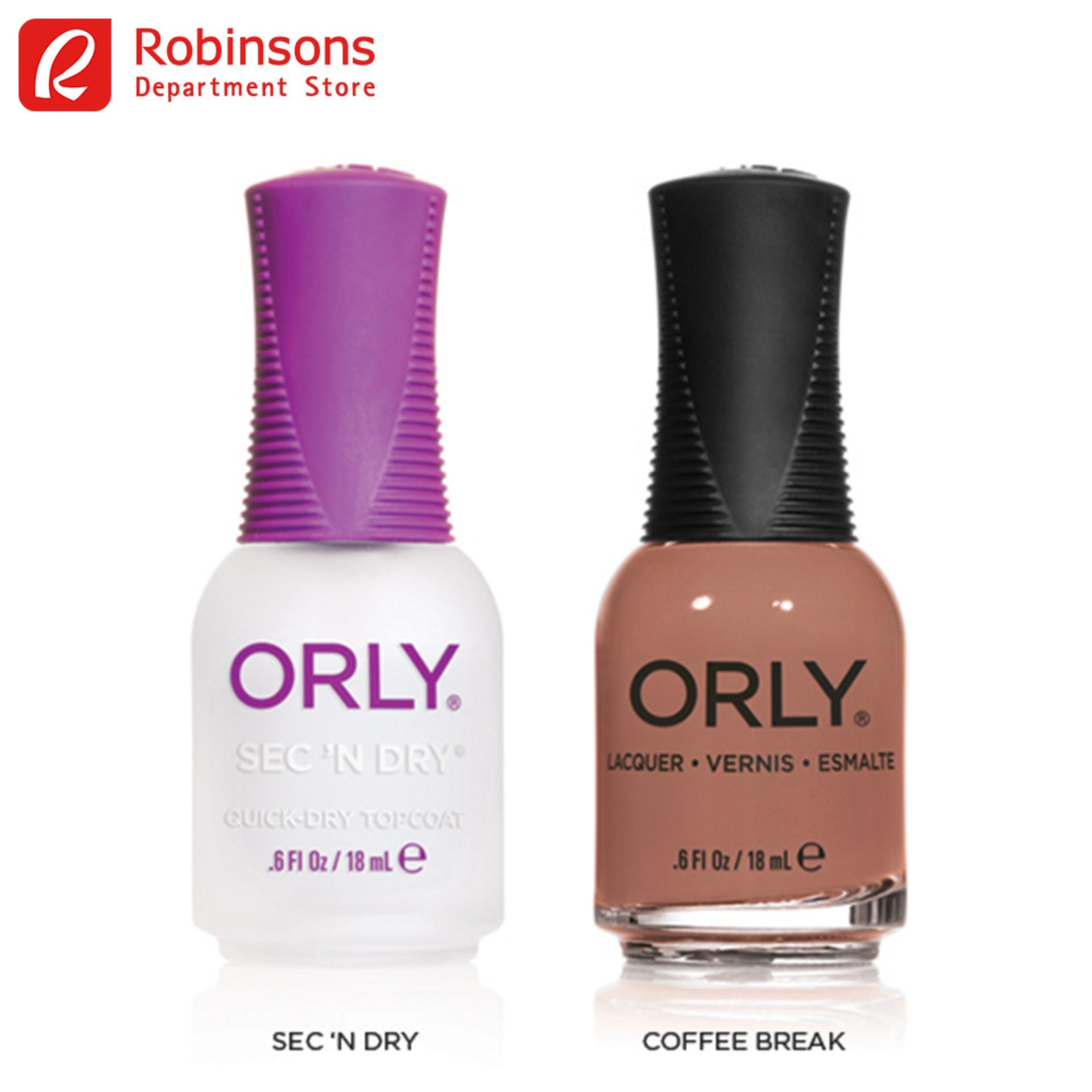 Orly Sec N Dry + Coffee Break By Robinsons Department Store.