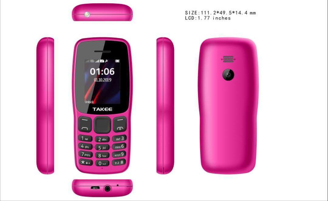 TAKEE E06 1 77 LCD Dual SIM Long Standby Feature Phone Bar Phone with  Headset