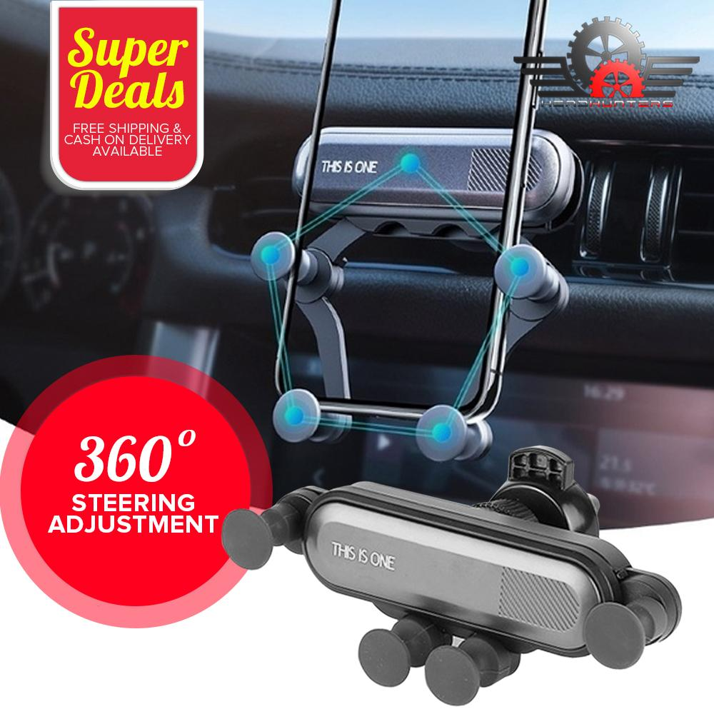 Car Phone Holder 360/°Rotation Deformable Universal Mobile Phone Holder for Phone in Car Air Vent Mount Car Holder Stand for 4.7-6.5 inch Mobile Phones Black