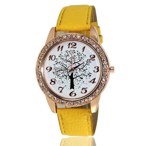 Wish AliExpress ZALORA Amazon eBay Geneva Leather Watch Meja Hadiah Wanita