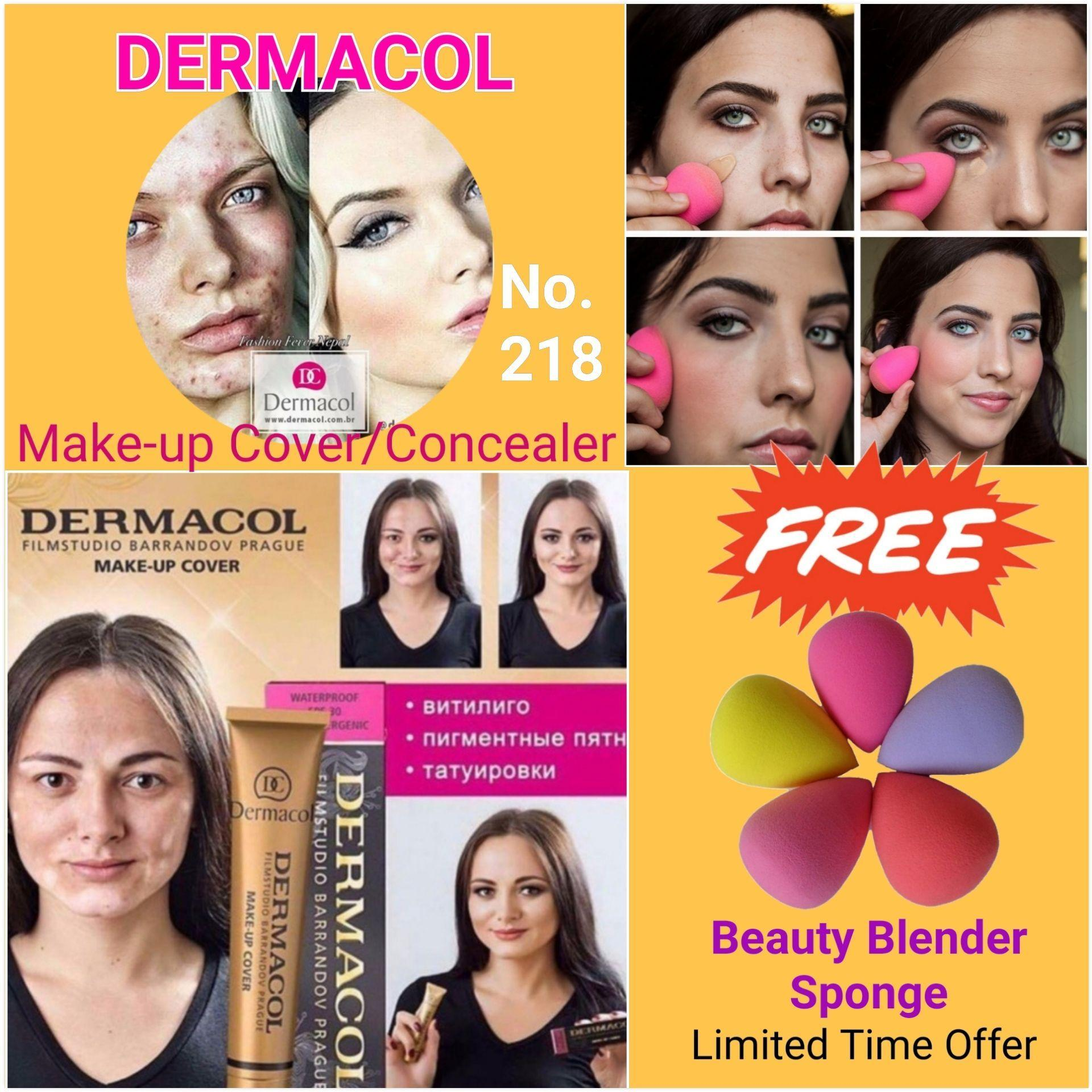 Dermacol Make up Cover/Foundation (#218) FREE Beauty Blender Sponge Philippines