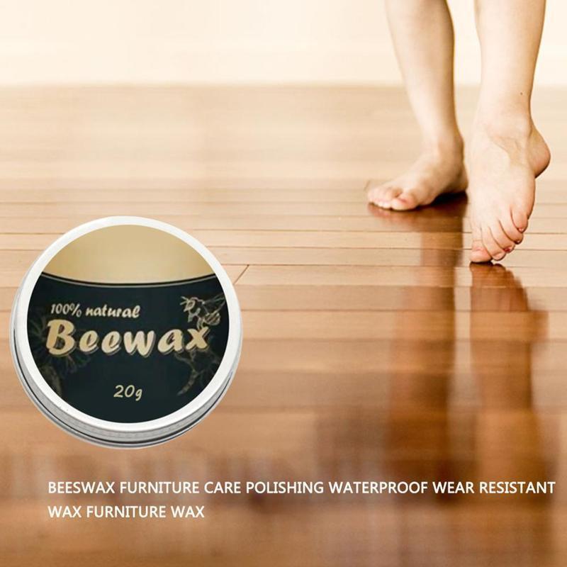 [I Love Home] Iron Box Beeswax Furniture Care Polishing Wood and Wax Waterproof Beewax Seasoning Wear-resistant J3I7