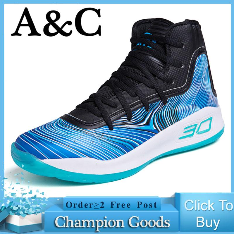 f414be029c6 A C Outdoor Fashion Men s Shoes Sports Training Shoes Large Size High  Basketball Shoes All Star Boots