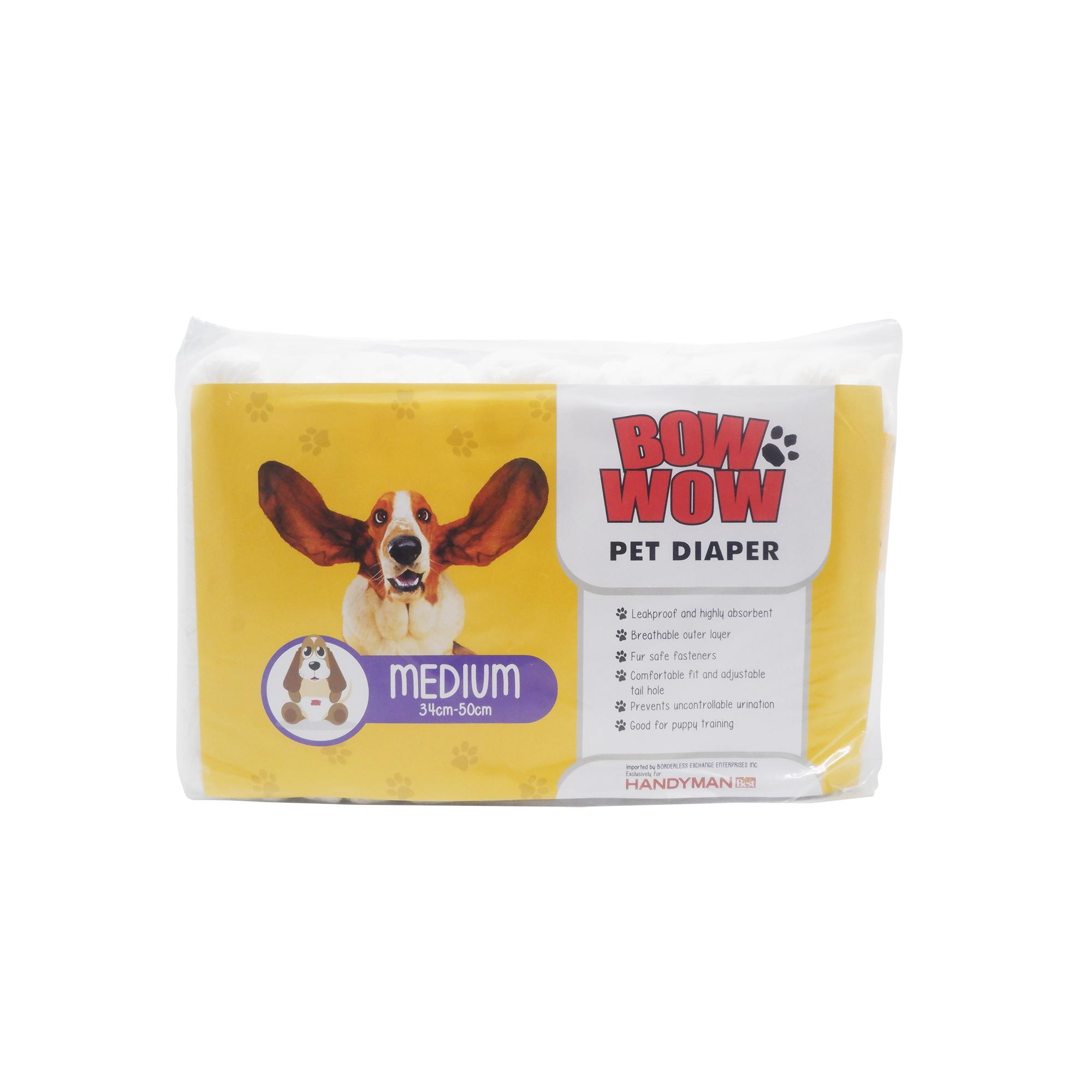 Bow Wow Pet Disposable Diapers 12's – Medium