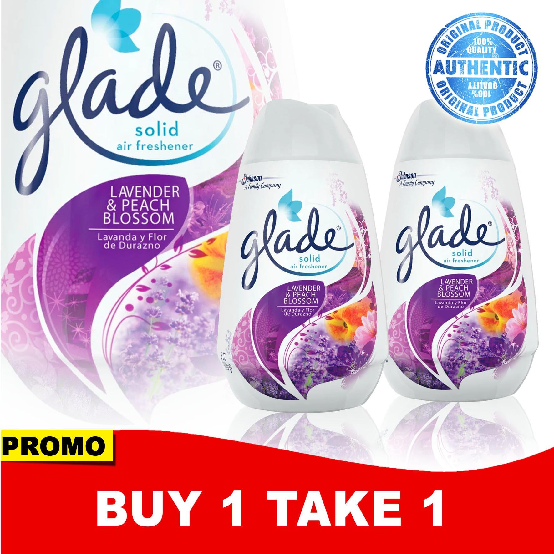Buy 1 Take 1 Glade Lavender & Peach Blossom Solid Air Freshener 170g By Manmico-Health And Beauty.