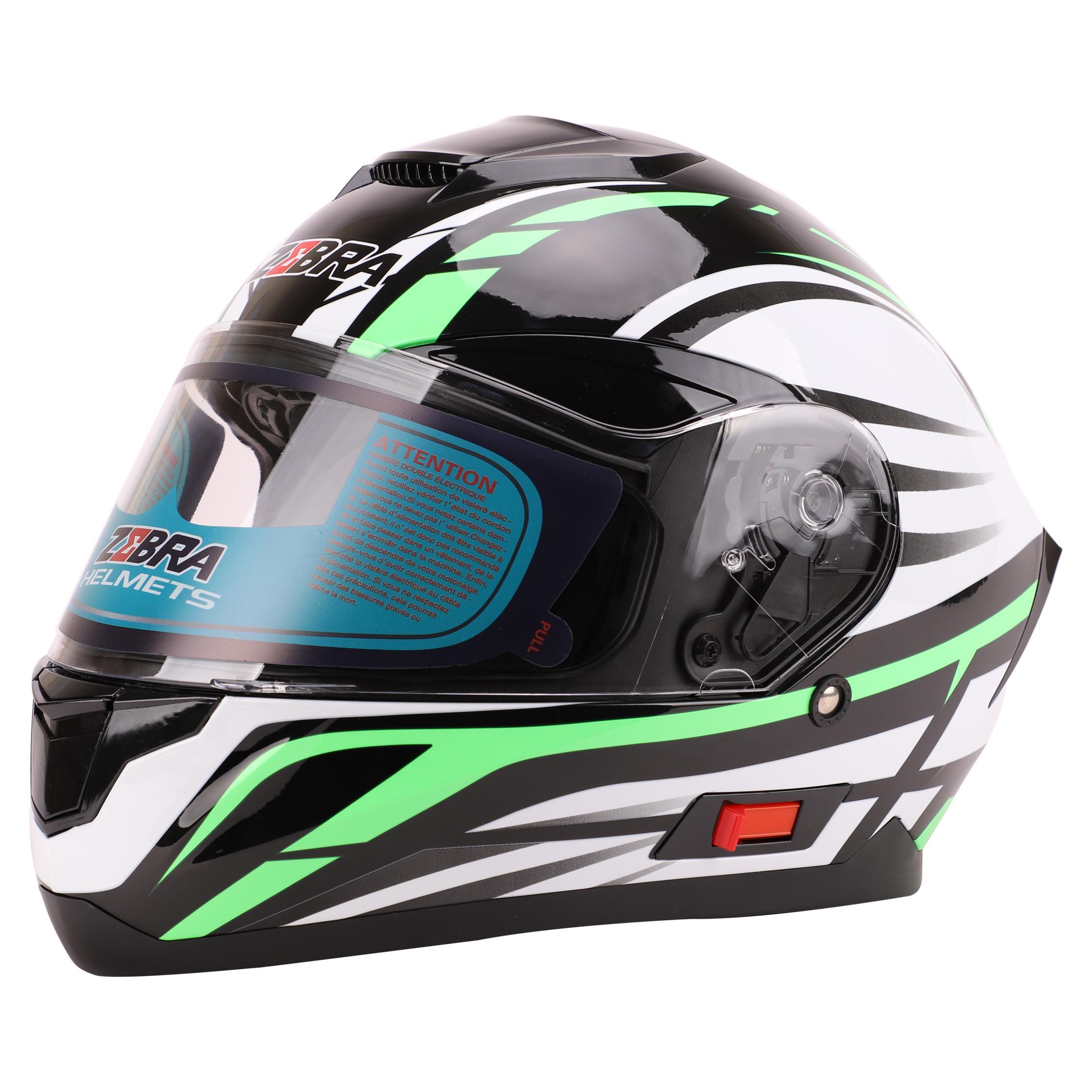 ZEBRA Helmets 807 Full Face Dual Visor Motocycle Helmet