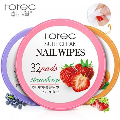 ROREC Sure Clean Strawberry Flavor Nail Wipes 15g, 32pads Philippines