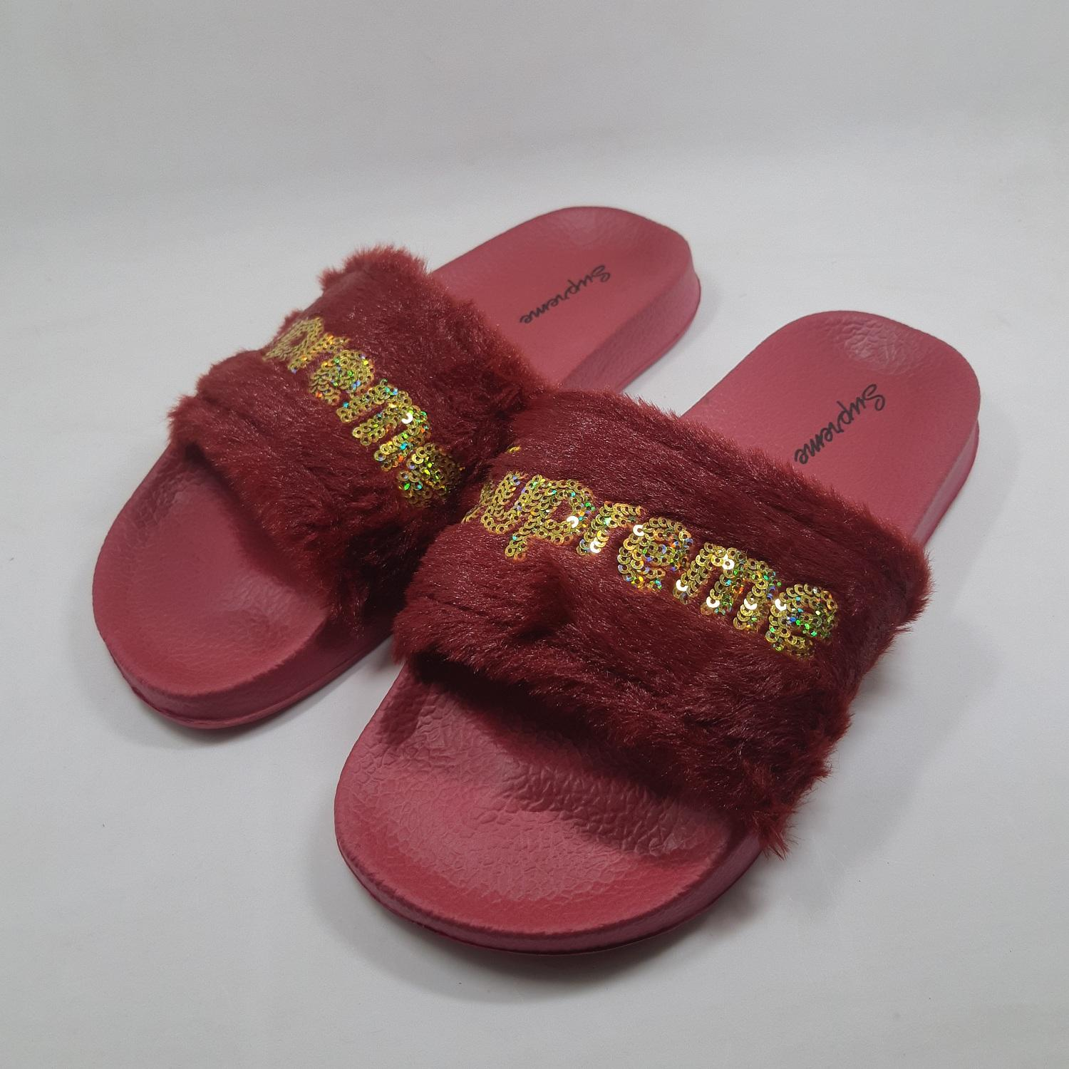 100% authentic 97dd8 702d6 Supreme Fenty Fur Slides Cute and Trendy Slippers for Women