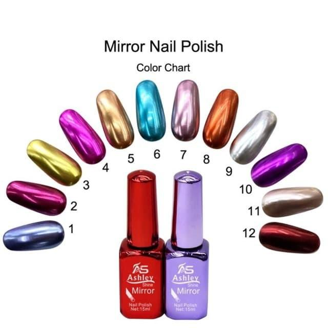 Ashley Shine Mirror Nail Polish Authentic By Real Kolections.