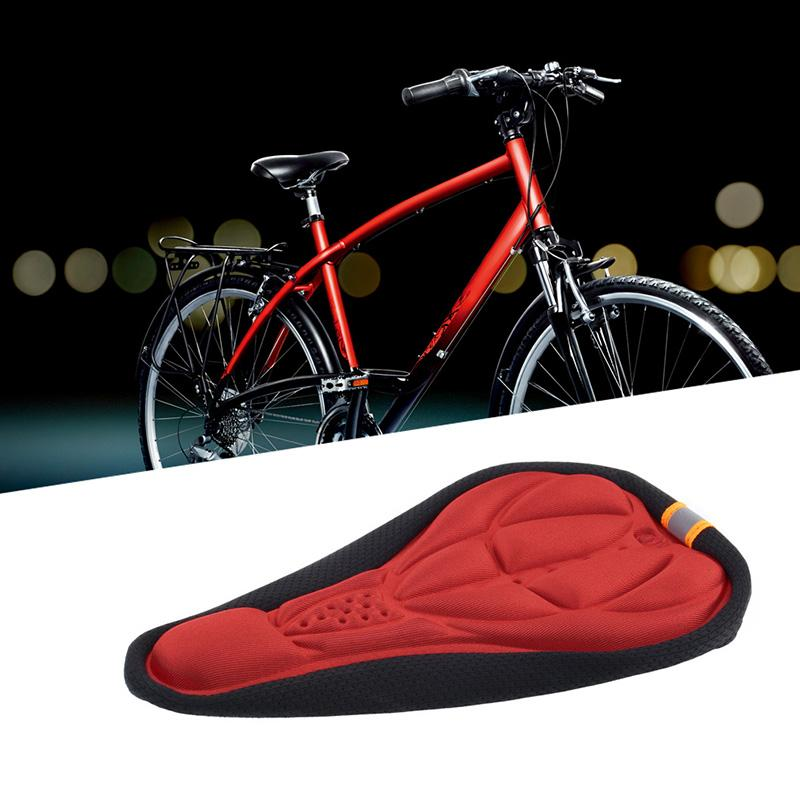 Bike Cycling Soft 3D Sponge Cushion Pad Saddle Seat Cover Waterproof Red