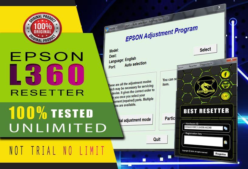 Epson L130 L220 L310 L360 L365 Resetter Adjustment Program