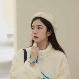 Mũ Nữ Thu Đông Phiên Bản Hàn Quốc Phong Cách Nhật Bản Dễ Phối Anh Phong Cách Retro Ngọt Ngào Đáng Yêu Áo Dạ Lông Cừu Họa Sĩ Bát Giác Mũ Nồi Thủy Triều thumbnail