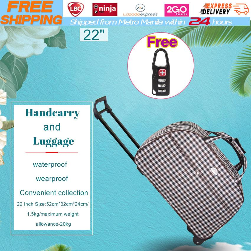 Free Luggage Lock 2018 New Trolley Bag Commercial Travel Fashion Luggage  Bags 22inch Rolling 514714c05e