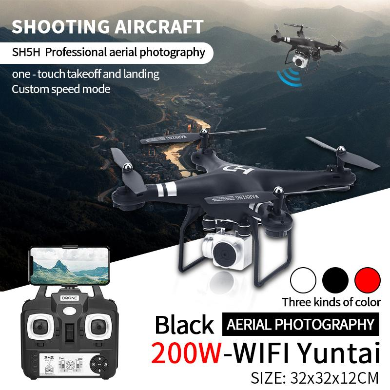 RC Drone 720P Camera Wifi FPV HD Adjustable HD Altitude Hold One Key  Return/Landing/ Take Off Headless RC Quadcopter Drone