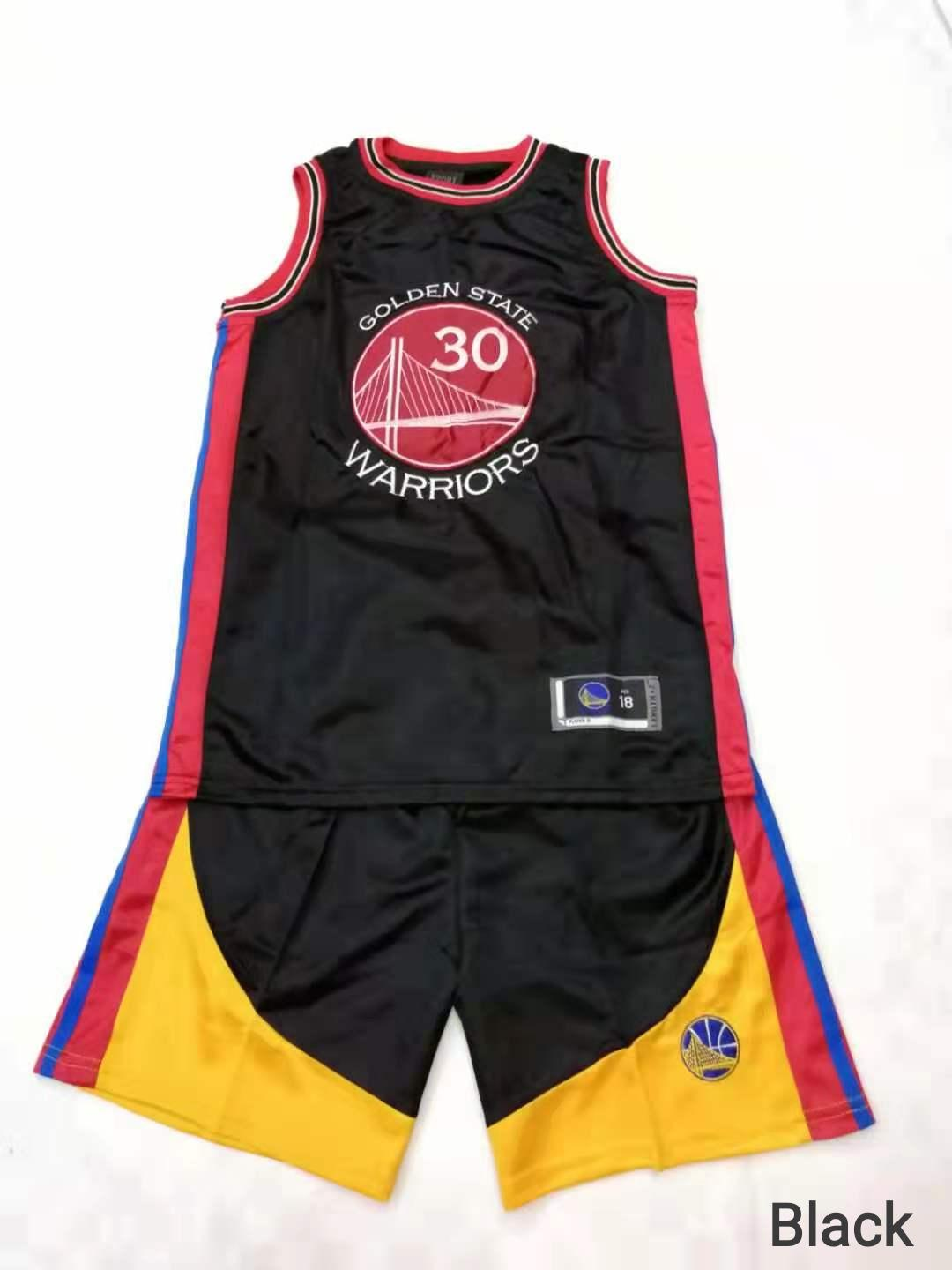 quality design a9a55 937ce NBA Jersey unisex set golden state for kids boys girls curry #30 basketall  suit red blue black red yellow white #5002