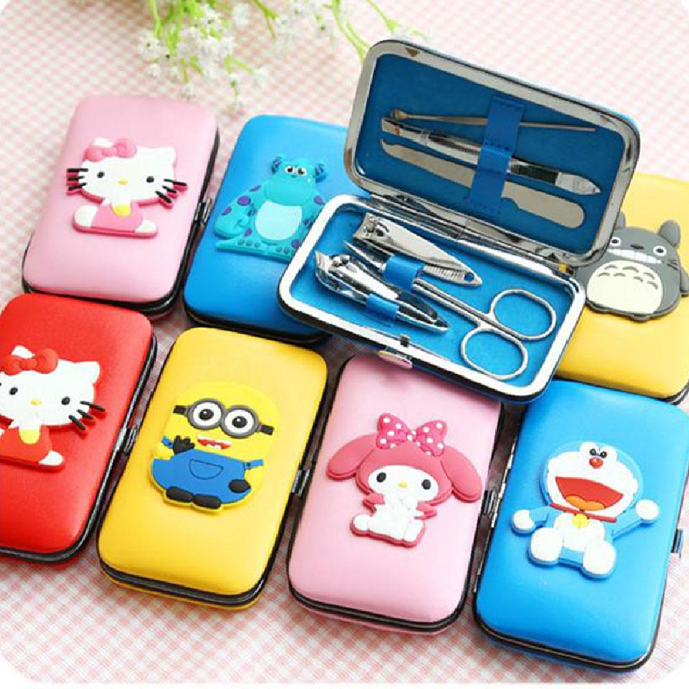 EHOME Cartoon Nail Clippers Case Mini Manicure Set Tools Philippines